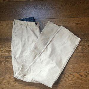 Peter Millar Tan Corduroy Pants Waist 35